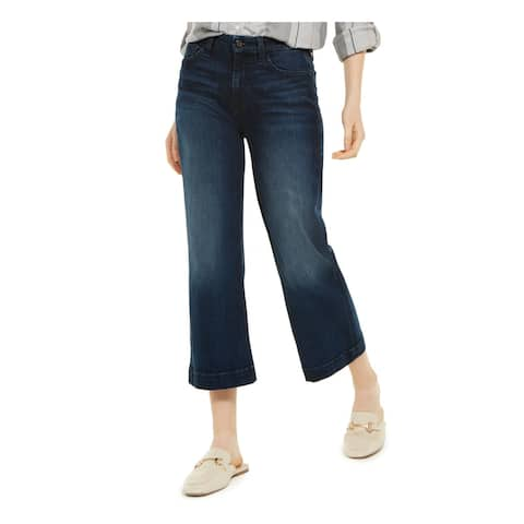 7 FOR ALL MANKIND Womens Navy Cropped Jeans Size 6