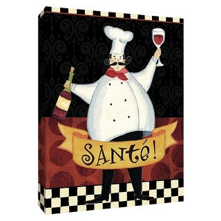 """PTM Images 9-154279  PTM Canvas Collection 10"""" x 8"""" - """"Bon Appetit III"""" Giclee Chefs Art Print on Canvas"""