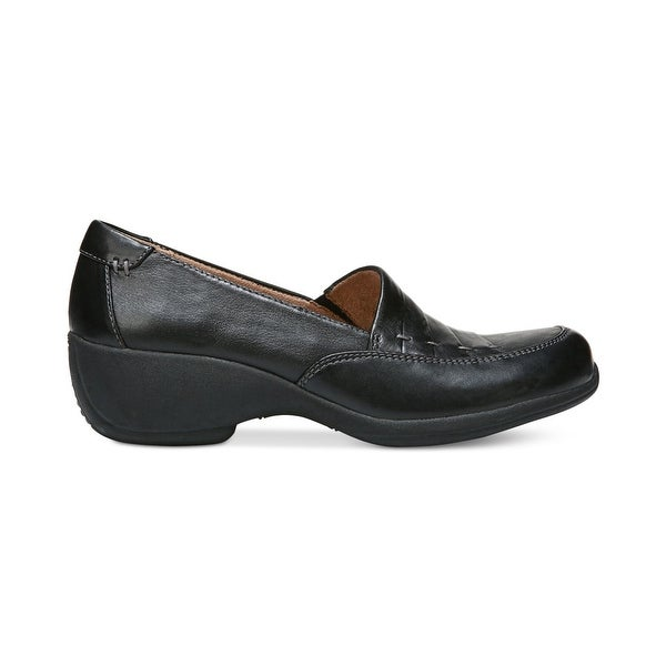 Naturalizer Womens Joiner Leather Round Toe Loafers