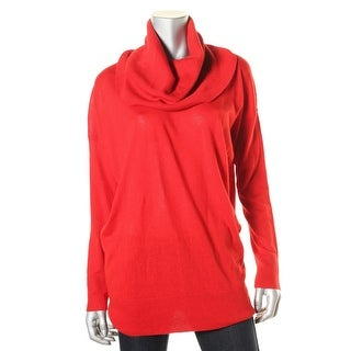 DKNY Womens Pullover Cowl Turtleneck Sweater