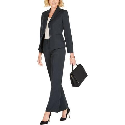 Le Suit Womens Pant Suit Two-Button Professional - Deep Forest