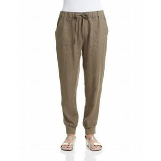Joie NEW Olive Green Womens Size Medium M Jogger Drawstring Pants