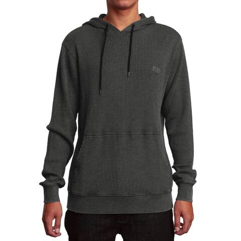 RVCA Mens Hoodie Small Pullover Elroy Textured Drawstring