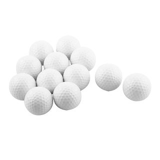 Outdoor Sports Resin Training Practice Golf Balls White 12 Pcs