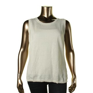 Lafayette 148 Womens Plus Pullover Casual Tank Top Sweater - 1X