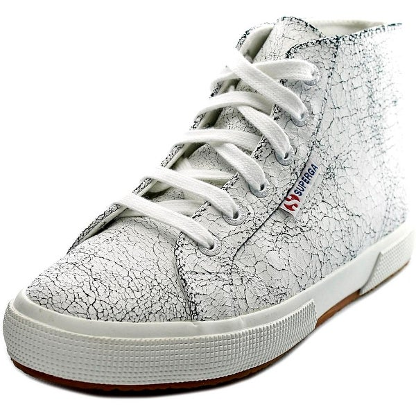 Superga 2095 Crackedleaw Women Leather White Fashion Sneakers
