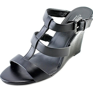 Charles By Charles David Naples Women Open Toe Leather Wedge Sandal