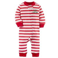 Carter's Baby Boys' Zip-Up Christmas Cotton Sleep & Play, 3 Months