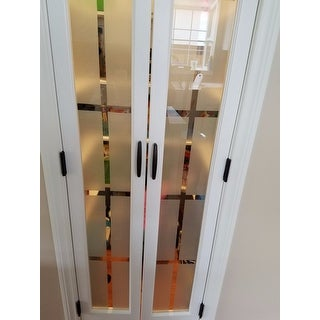 ... American Wood Mission Frosted Bi Fold Door