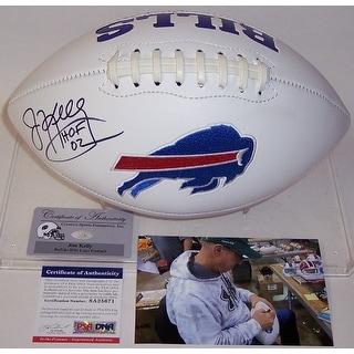 Jim Kelly Autographed Hand Buffalo Bills Logo Football  PSADNA