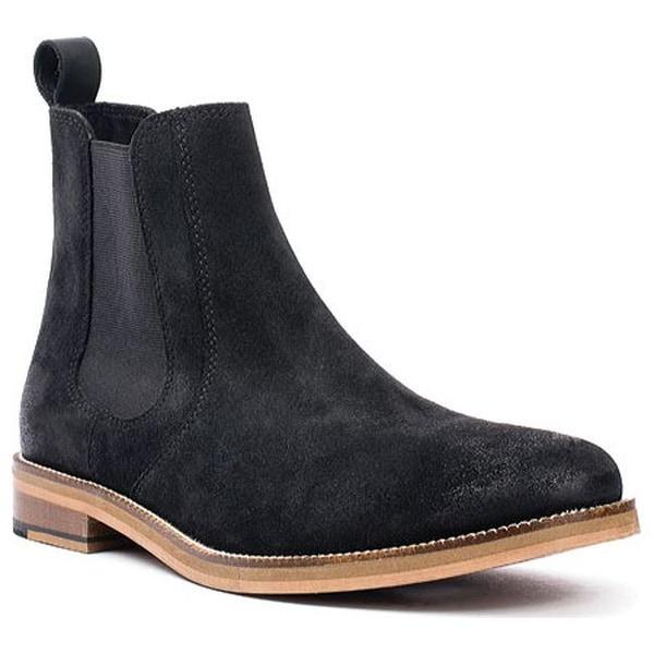 Denham Chelsea Boot Black Suede
