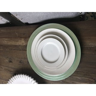 Pleated Design Charger Plates - set of 4