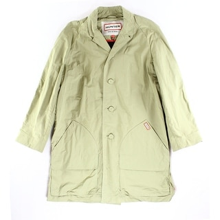 Hunter NEW Solid Sage Green Mens Size 40R Windbreaker Trench Coat