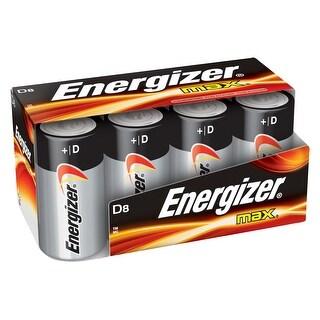 Energizer Max Alkaline Premium D Battery, 20500 mAh / 20.50 Ah, 1.5 V, Pack of 8