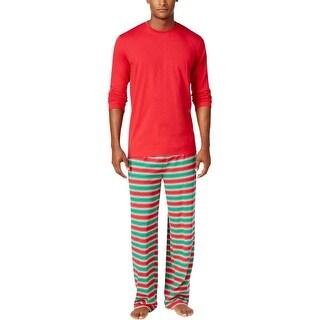 Family PJs Mens Pajama Set Holiday Stripes