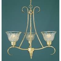 Volume Lighting V3993 Versailles 3-Light 1 Tier Chandelier - Polished Solid Brass - N/A