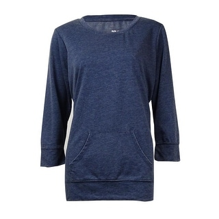 Style & Co. Sport Women's Kangaroo Pocket Thin Sweatershirt - m