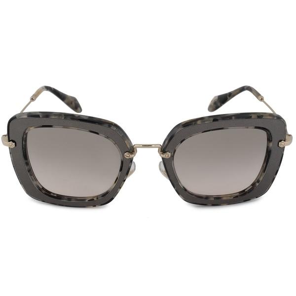 c38015f3e3 Shop Miu Miu Noir Square Sunglasses SMU07OS DHE3H2 52 - Free ...