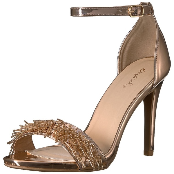 Qupid Women's Single Sole Heeled Sandal