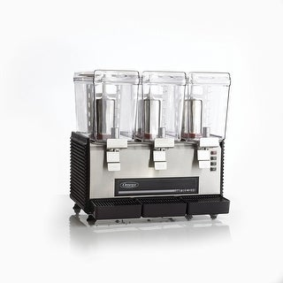 Omega OSD30 Commercial 1/2-Horsepower Drink Dispenser with 3 3-Gallon Containers, Black & Stainless Steel