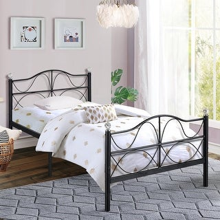 VECELO Metal Platform Bed Frames with Headborar and Footboard