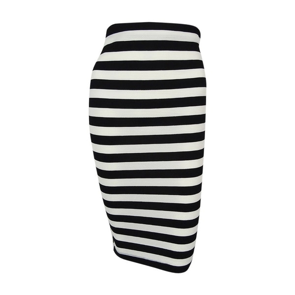 c71735f5c0 Shop BCX Juniors' Striped Pencil Skirt - BLACK/WHITE - Free Shipping On  Orders Over $45 - Overstock - 15966497