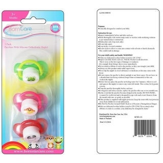 3 Months Plus, Pacifiers Printed with Silicone Orthodontic