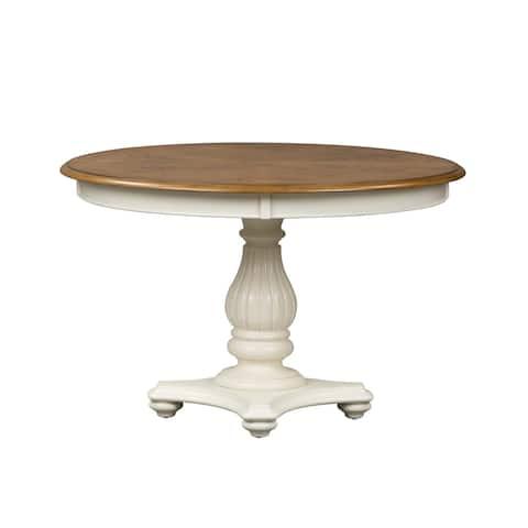 The Gray Barn Arctic Arrow 48x60 Single Pedestal Oval Dinette Table - White