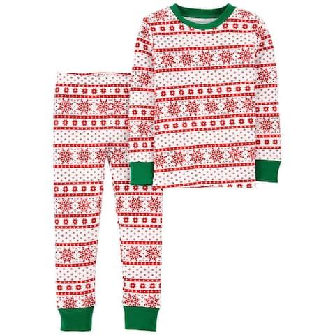 Carter's Boys' 2 Piece Snug Fit Pajama Cotton, Fair Isle, Size 4 Kids