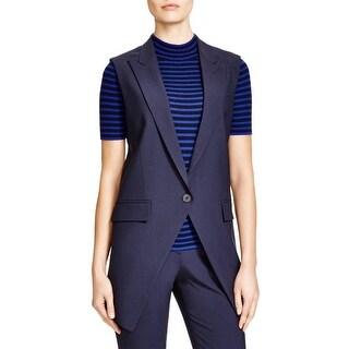 Theory Womens Flavio Suit Vest Faux Pockets Double Vent