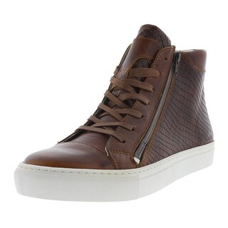 Kenneth Cole Reaction Mens Good Vibe Leather Embossed Snake Fashion Sneakers - 8 medium (d)