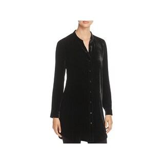 Eileen Fisher Womens Blouse Silk Blend Velvet