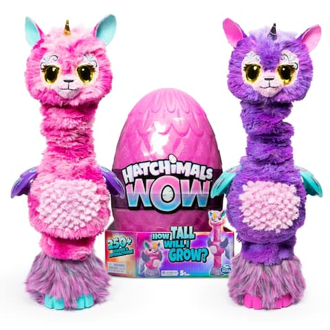 Hatchimals WOW, Llalacorn 32-Inch Tall Interactive Hatchimal with Re-Hatchable Egg (Styles May Vary) - 8 x 8 x 12.13 inches