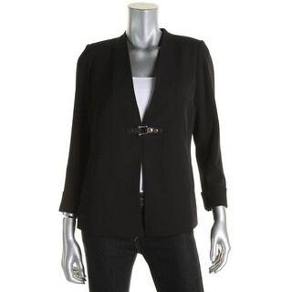 Calvin Klein Womens Petites Blazer Belted Cuff Sleeves