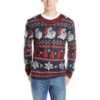 Ugly Santa Stripe Christmas - gray