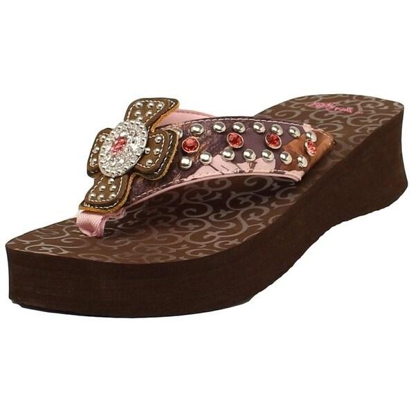 Blazin Roxx Western Shoes Womens Camie Flip Flops Pink