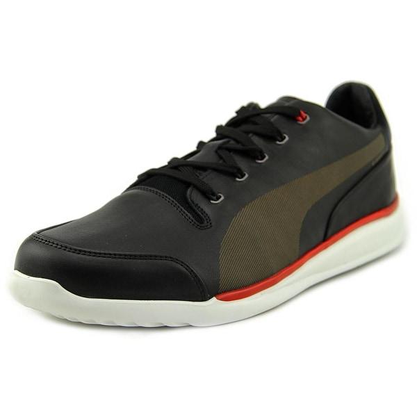 Puma Ferrari Premium Titolo Everfit+ Men Round Toe Leather Black Sneakers