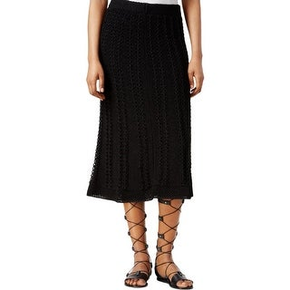 Rachel Rachel Roy Womens Straight Skirt Crochet Lined
