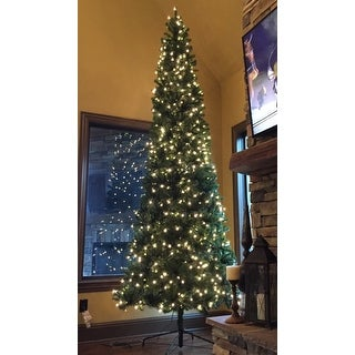 12 ft. North Valley Spruce Pencil Slim Tree with Clear Lights