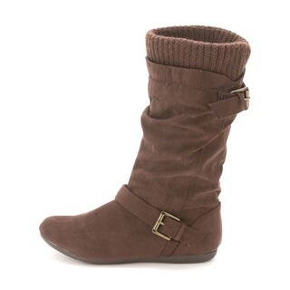 Report Womens EVERTON Suede Almond Toe Mid-Calf Cold Weather Boots
