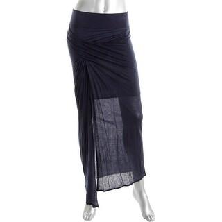 Helmut Lang Womens Jersey Slit Maxi Skirt - S