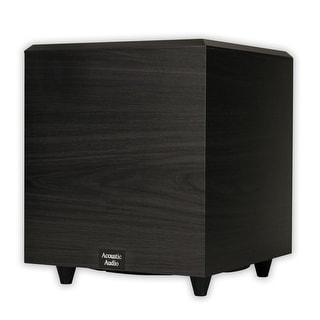 """Acoustic Audio PSW-10 Home Theater Powered 10"""" Subwoofer 400 Watts Surround Sound Sub"""