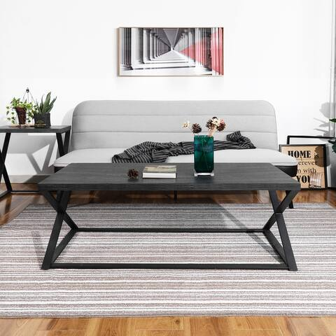 Furniture R Modern Coffee Table Metal X Leg