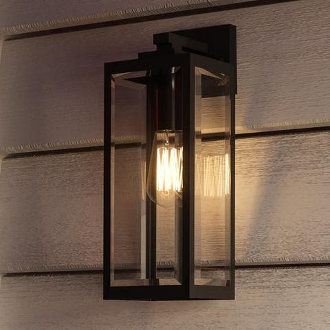 """Luxury Modern Farmhouse Wall Sconce, 17H x 6""""W, with Industrial Style, Natural Black, UQL1331 by Urban Ambiance"""