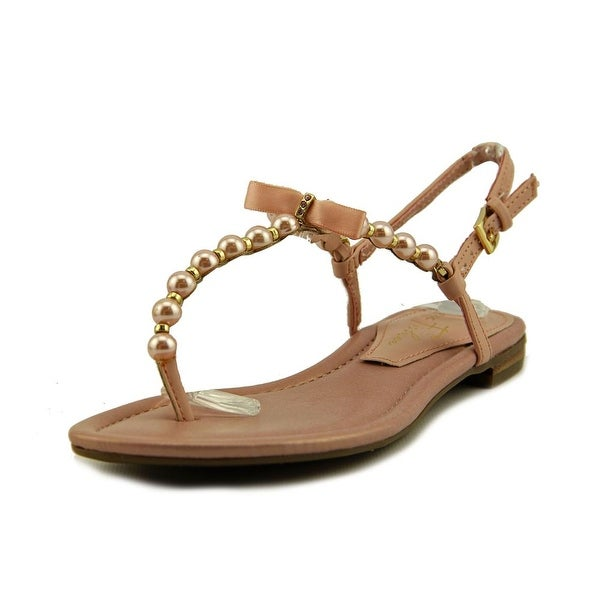 Marc Fisher Fumi Open Toe Synthetic Thong Sandal