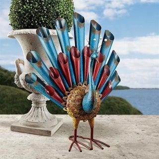 Design Toscano Peacock's Posture Metal Garden Statue