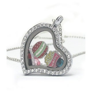 Heart Charm Locket for Hamburger Lovers