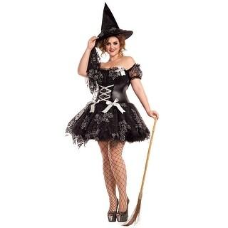 Plus Size Silver Sparkle Witch Costume, Plus Size Hoty Silver Sparkle Witch Costume