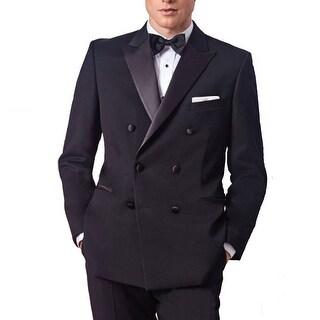Michael Craig Black Double Breasted Peak Tuxedo