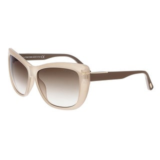 Tom Ford FT0434 57G LINDSAY Grey Rectangular Sunglasses